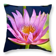 Beyond Beautiful Water Lily Throw Pillow