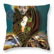 Beyond Masks Throw Pillow
