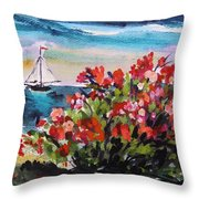 Beyond Sea Roses Throw Pillow