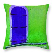 Beyond The Blue Door Throw Pillow