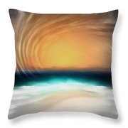 Beyond The Blue Horizon - Series 20 Throw Pillow