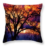 Beyond The Cottonwoods Throw Pillow