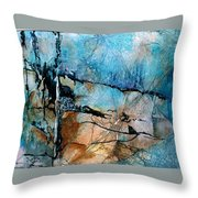 Beyond The Forest Line Throw Pillow