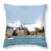 Beyond The Jetty Throw Pillow