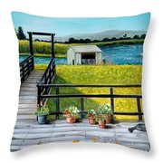 Beyond The Levee Throw Pillow