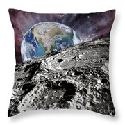 Beyond The Moon Throw Pillow
