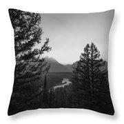 Beyond The Trees Bw Throw Pillow