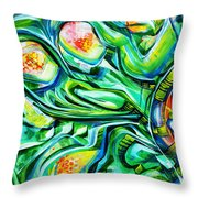 Beyond The Unknown - Left Throw Pillow
