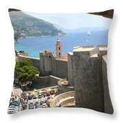 Beyond The Walls Of Old Dubrovnik Throw Pillow