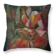 Bharathanatiyam Throw Pillow