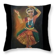 Bharatnatyam Throw Pillow