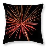 Bi-color Fireworks 2 Throw Pillow