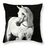 Bianco Su Nero Throw Pillow