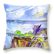 Biarritz 09 Throw Pillow