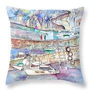 Biarritz 19 Throw Pillow