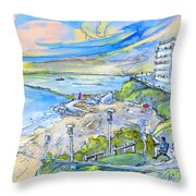 Biarritz 26 Throw Pillow