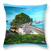 Biarritz Bridge Throw Pillow