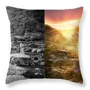Bible - Psalm 23 - Yea, Though I Walk Through The Valley 1920 - Side By Side Throw Pillow