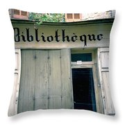 Bibliotheque Throw Pillow