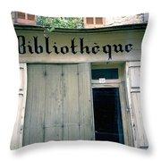 Bibliotheque Throw Pillow