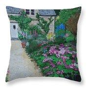 Bibury Garden Path Throw Pillow