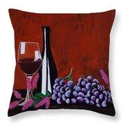 Bicchiere Di Vino Throw Pillow