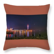Bicentennial Tower Throw Pillow
