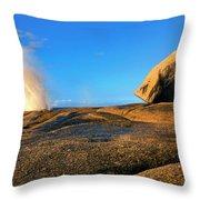 Bicheno Blowhole Throw Pillow
