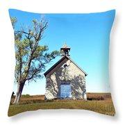 Bichet School In Autumn Throw Pillow