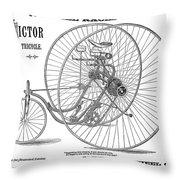 Bicycle, 1884 Throw Pillow