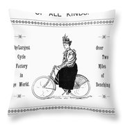 Bicycle, 1897 Throw Pillow