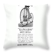 Bicycle Ad, 1885 Throw Pillow