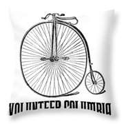Bicycle Advertisement, 1888 Throw Pillow