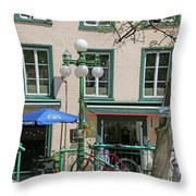 Bicycle And Lamppost 6417 Throw Pillow
