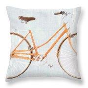 Bicycle Blues Throw Pillow