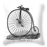 Bicycle Camera Ad, 1887 Throw Pillow by Granger