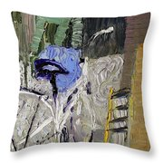 Bicycle In The Cellar Throw Pillow