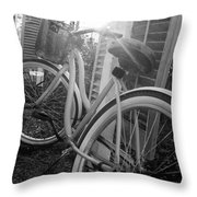 Bicycle In The Sun Throw Pillow
