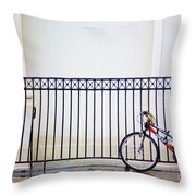 Bicycle New Orleans  Throw Pillow