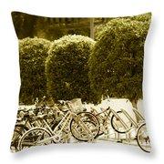 Bicycle Park 2 Throw Pillow