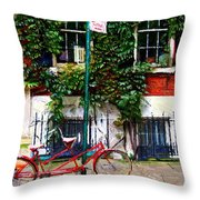 Bicycle Parking Sketch Throw Pillow