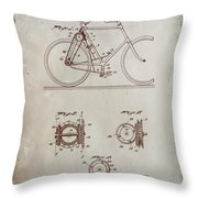 Bicycle Patent Drawing 4a Throw Pillow