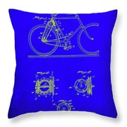 Bicycle Patent Drawing 4b Throw Pillow