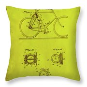 Bicycle Patent Drawing 4d Throw Pillow