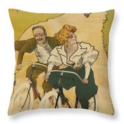 Bicycle Poster, 1895 Throw Pillow