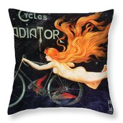 Bicycle Poster, C1905 Throw Pillow