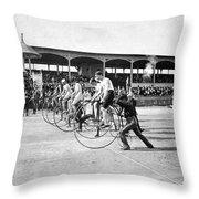Bicycle Race, 1890 Throw Pillow