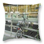 Bicycle Rack Throw Pillow