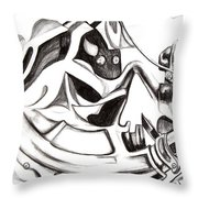 Bicycle With Cloth Throw Pillow