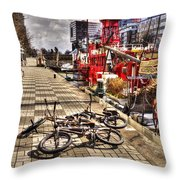 Bicycles In Rotterdam, Netherlands Throw Pillow